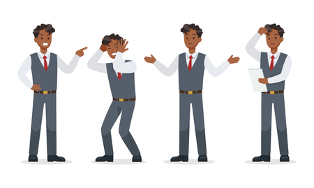 businessman working in office character vector design.No8 Ilustração