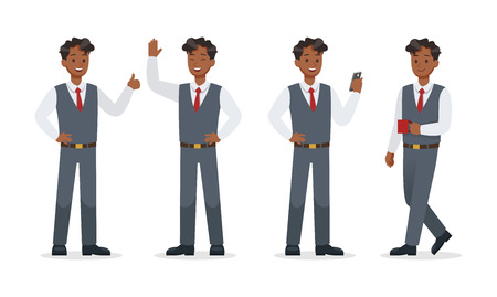 businessman working in office character vector design.No9