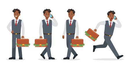 businessman working in office character vector design.No12 Ilustração