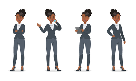 businesswoman working in office character vector design no.8