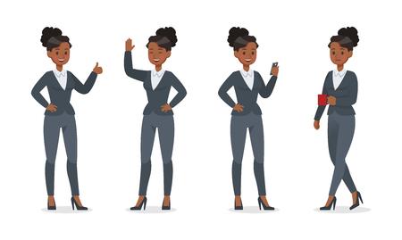 businesswoman working in office character vector design no.9
