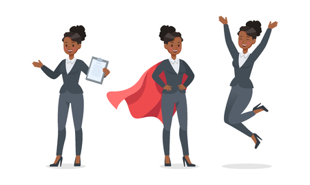 businesswoman working in office character vector design no.11