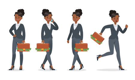 businesswoman working in office character vector design no.12 Çizim