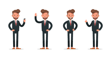 Set of Businessman character vector design. no2 Ilustração