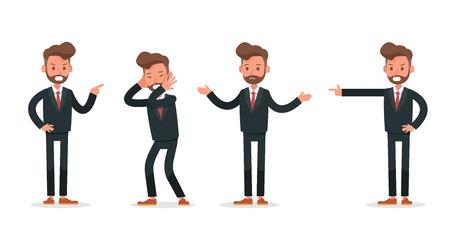 Set of Businessman character vector design. no3 Ilustração