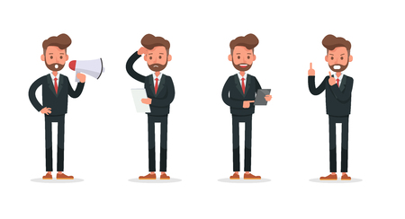 Set of Businessman character vector design. no4
