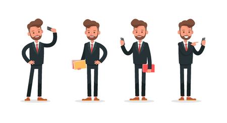 Set of Businessman character vector design. no5