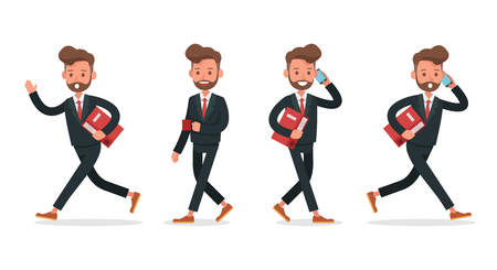 Set of Businessman character vector design. no7 Ilustração