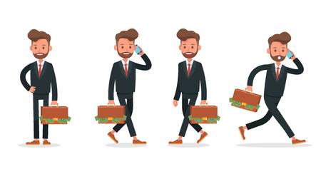 Set of Businessman character vector design. no8 Ilustração