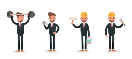 Set of Businessman character vector design. no11 Ilustração