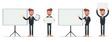 Set of Businessman character vector design. no12 Ilustração