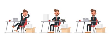 Set of Businessman character vector design. no13 Ilustração