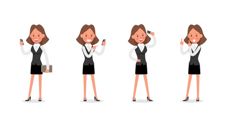 Set of Businesswoman character vector design. no25