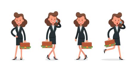 Set of Businesswoman character vector design. no8