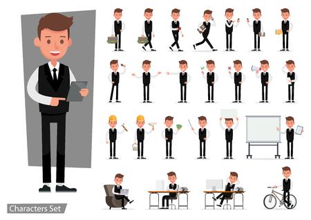 Set of Businessman character vector design. no32 Ilustração
