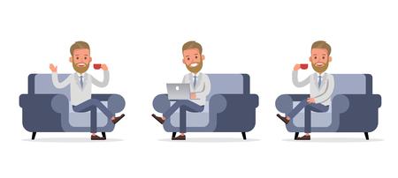 Set of Businessman character vector design. no74