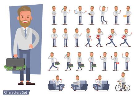 Set van zakenman karakter vector design. nee81