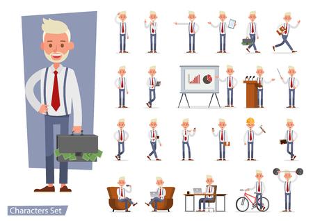 Set of Businessman character vector design. no86