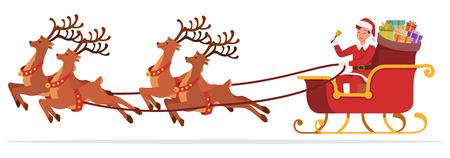 Santa Claus man character vector design for christmas. Presentation in various action. no7