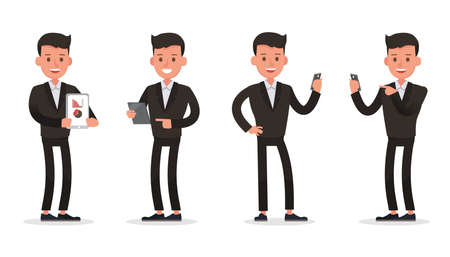 business people character vector design. Presentation in various action and working. no30