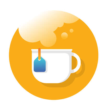 coffee cup flat Icon design