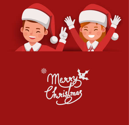 Christmas character vector design for card, banner and background. 版權商用圖片 - 159766526