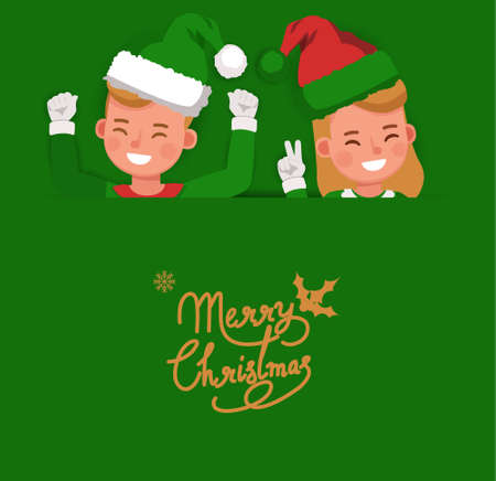 Christmas character vector design for card, banner and background. 版權商用圖片 - 159766533