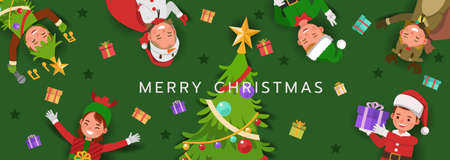 Christmas character vector design for card, banner and background. 向量圖像