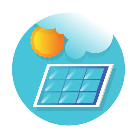 Solar panel icon flat vector design 版權商用圖片 - 160093626