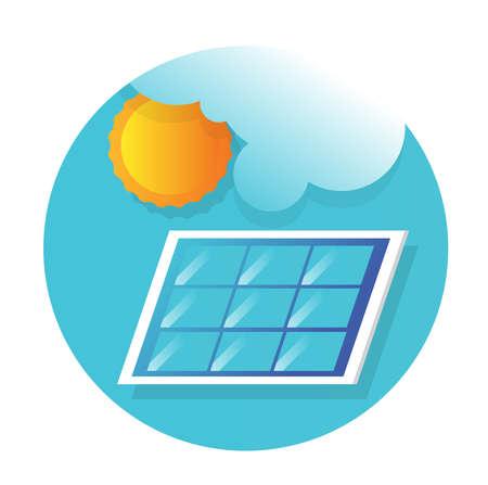 Solar panel icon flat vector design