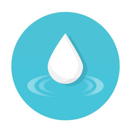 water drop icon flat vector design