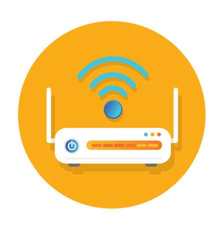Wifi router flat Icon design
