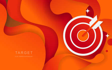 TARGET Fluid Shapes abstract Background for banners presentations,landing page and template. Vector design.