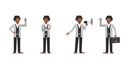 Businessman working character vector design no87
