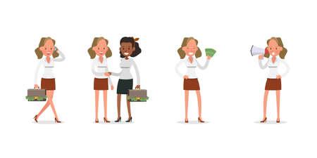 businesswoman character vector design no3