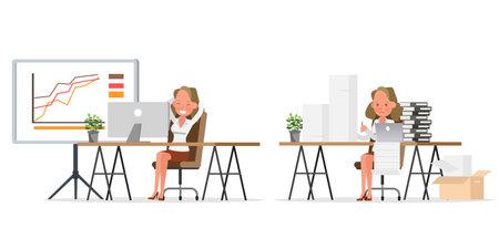 businesswoman character vector design no7