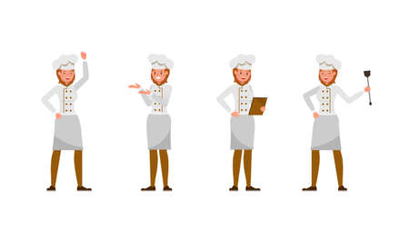 Chef woman character vector design. no3