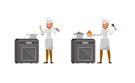 Chef woman character vector design. no5