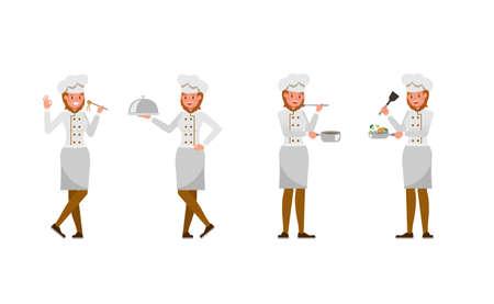 Chef woman character vector design. no4 Illusztráció