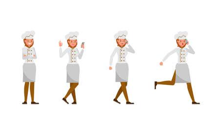 Chef woman character vector design. no2 Illusztráció