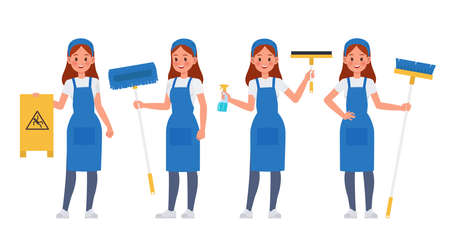 Cleaning staff character vector design no8 Illustration