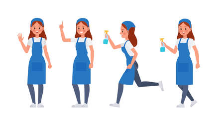 Cleaning staff character vector design no10 Illustration