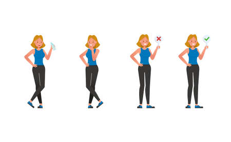 Fitness trainer character vector design. Woman dressed in sports clothes. no2