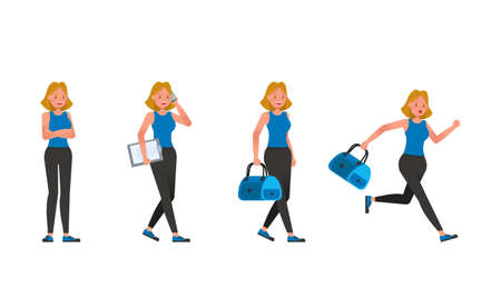 Fitness trainer character vector design. Woman dressed in sports clothes. Illustration