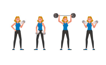 Fitness trainer character vector design. Woman dressed in sports clothes. no4