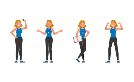 Fitness trainer character vector design. Woman dressed in sports clothes. no5