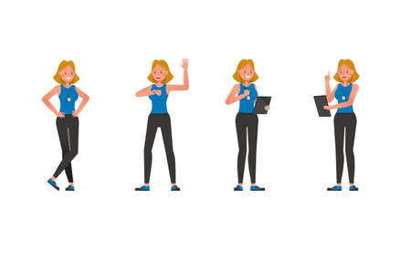 Fitness trainer character vector design. Woman dressed in sports clothes. no3 Illustration