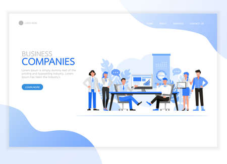 People character vector design. Business Companies concept. For landing page, web banner, infographics and background template.
