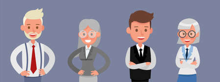 Set of Businessman and Businesswoman character vector design.