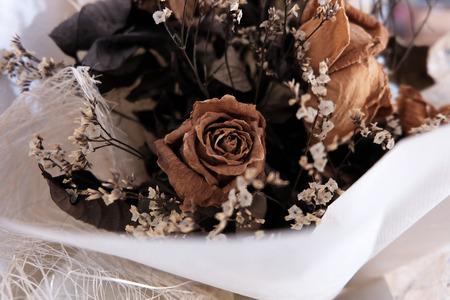 droop: dry rose dry flower